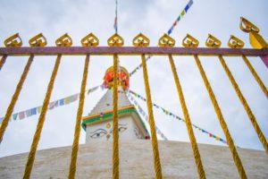 Kathmandu Itinerary Nepal Buddhist Stupa Fence Prayer Flags