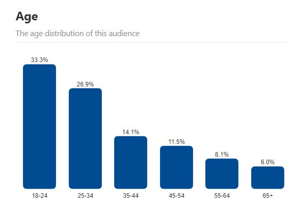 Pinterest Demographics Age