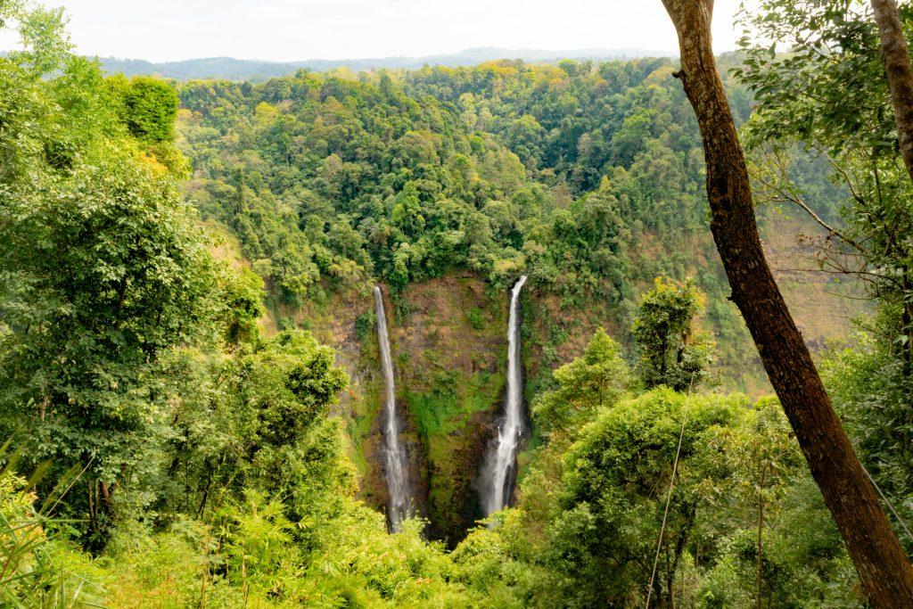 Tad Fane Waterfalls in Bolaven Plateau Pakse