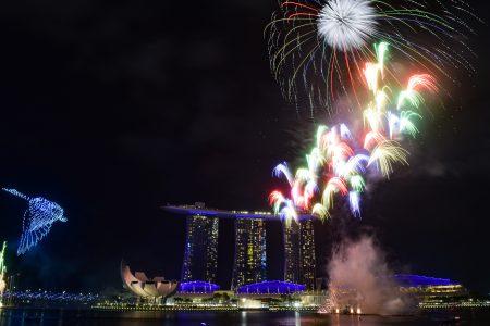 Singapore Marina Bay Countdown Fireworks 10
