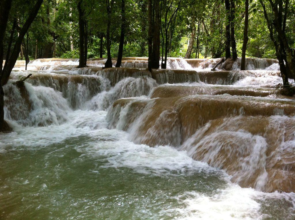 Tad Sae Waterfall in Luang Prabang Laos