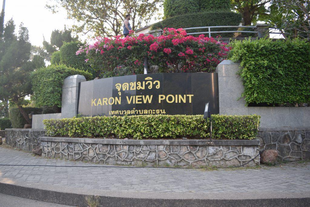 Karon Viewpoint Signboard in Phuket