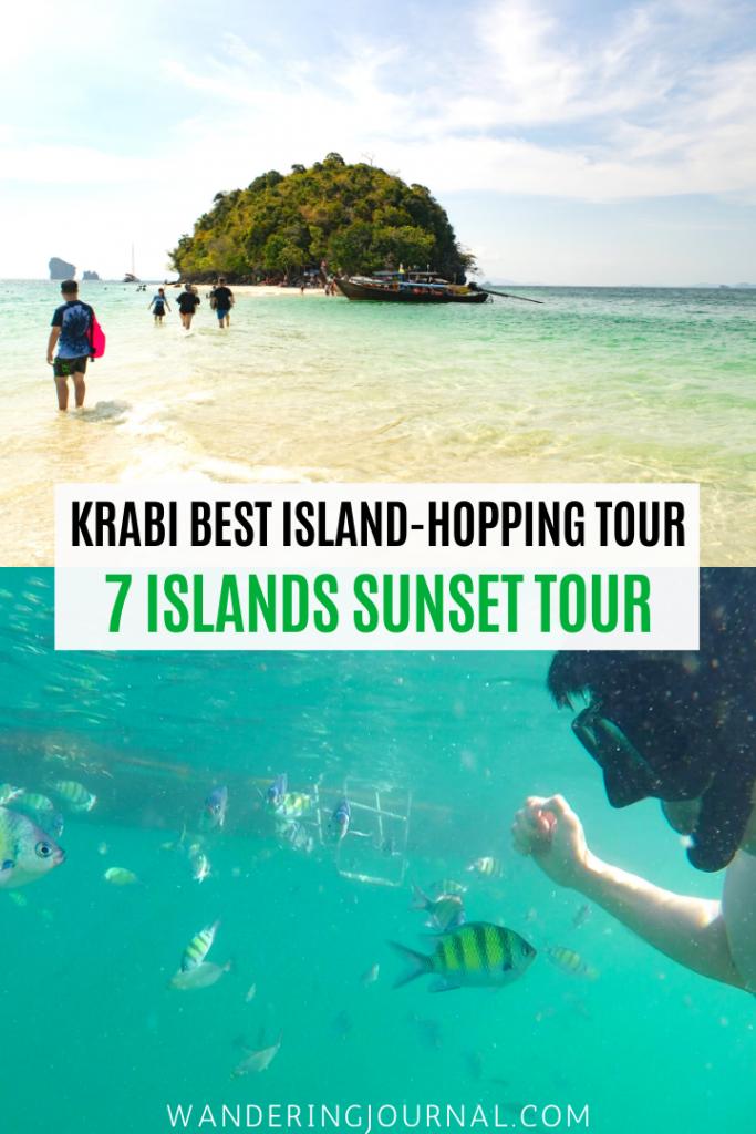 Krabi Best Island-Hopping Tour 7 Islands Sunset Tour