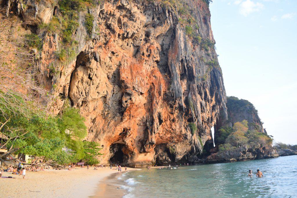 Phra Nang Cave in Railay Beach in Krabi Mainland