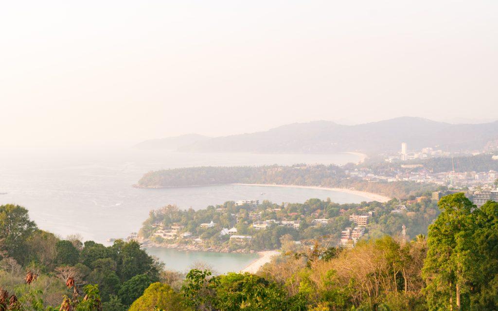 Sunset View from Karon Viewpoint on Phuket City Karon Beach Kata Beach and Kata Noi Beach